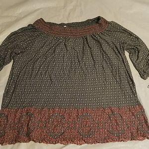 Fever Clothing 3/4 Sleeve Blouse Sz 2X NEW